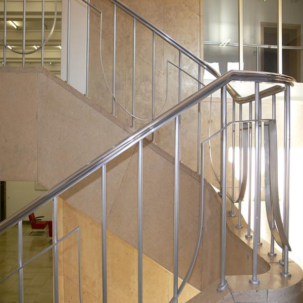 Pasamanos escalera interior barandilla de vidrio con - Pasamanos de escalera ...