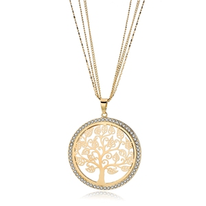fashion Tree of Life Surgical Grade 316l Stainless Steel Pendant Jewelry necklace jewellery