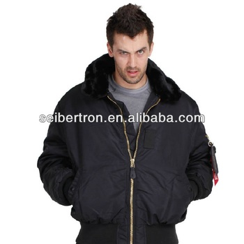 Seibertron B-15 Flight Jacket Pilot Jacket Mens Winter Jacket Coat ...