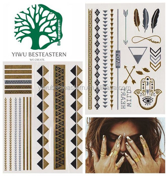 In stock Metallic Temporary Tattoo from China