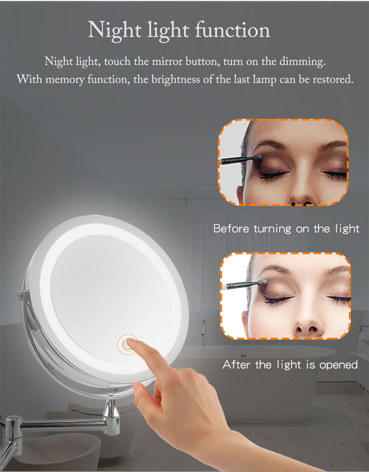 Magnifying 10x bathroom makeup shaving wall mounted swivel mirrorr