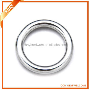 Fashion decorative custom metal o ring hardware bag accessory