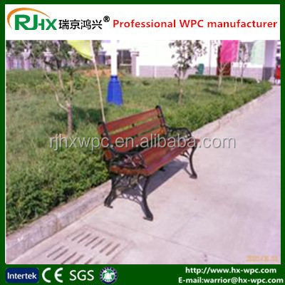 Wood-plastic composite chairs and long benches with factory price