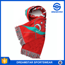 Wholesale Cheap Jacquard Knitted Soccer Sports Scarf