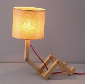 Good quality home decorative foldable wooden kids study desk table lamp