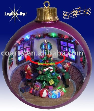 LightedAnimated Musical Christmas Ball