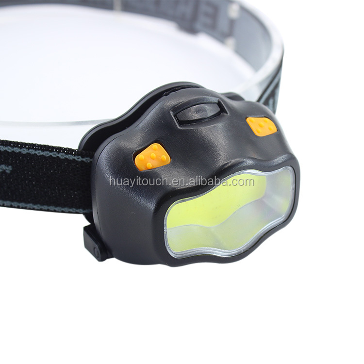 ABS Plastic AAA Battery COB Light Headlamp for Camping