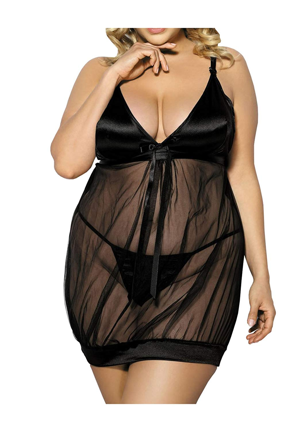 Get Quotations · Anais Apparel Size Plus Women s Chemise with String af8e8dc45