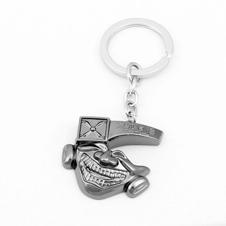 Cosplay Tokyo Ghoul Kaneki Ken Mask Keychain Key Pendant Accessories