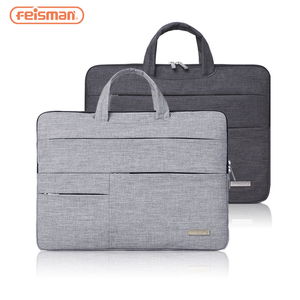 "Feisman 13 14 15 Inch Laptop Sleeve Case Bag, Protective Carrying Handbag Cover for 13"" 14"" 15"" Macbook Dell HP ASUS Toshiba"