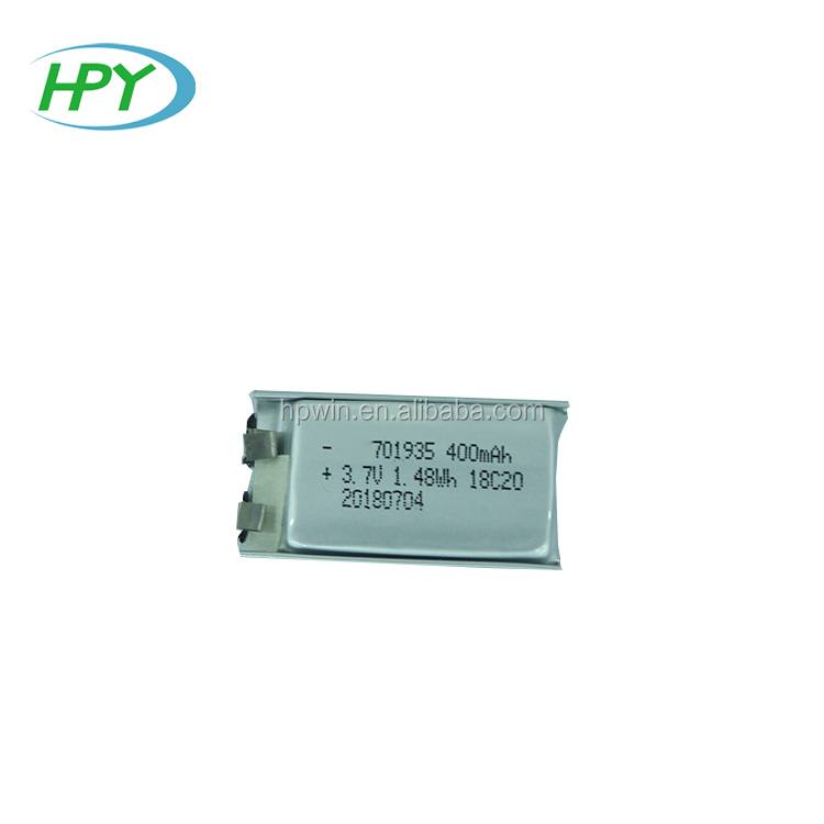 rechargeable lithium polymer battery 701935 3.7v 400mAh battery lipo