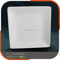 Square shape china factory supply plastic melamine cheap bulk dinner plates