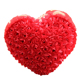 China custom plush stuffed soft red heart shaped pillow rose led pillow for Valentine's Day girl gift
