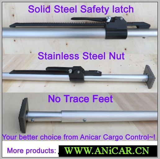 steel or aluminum cargo bar load lock