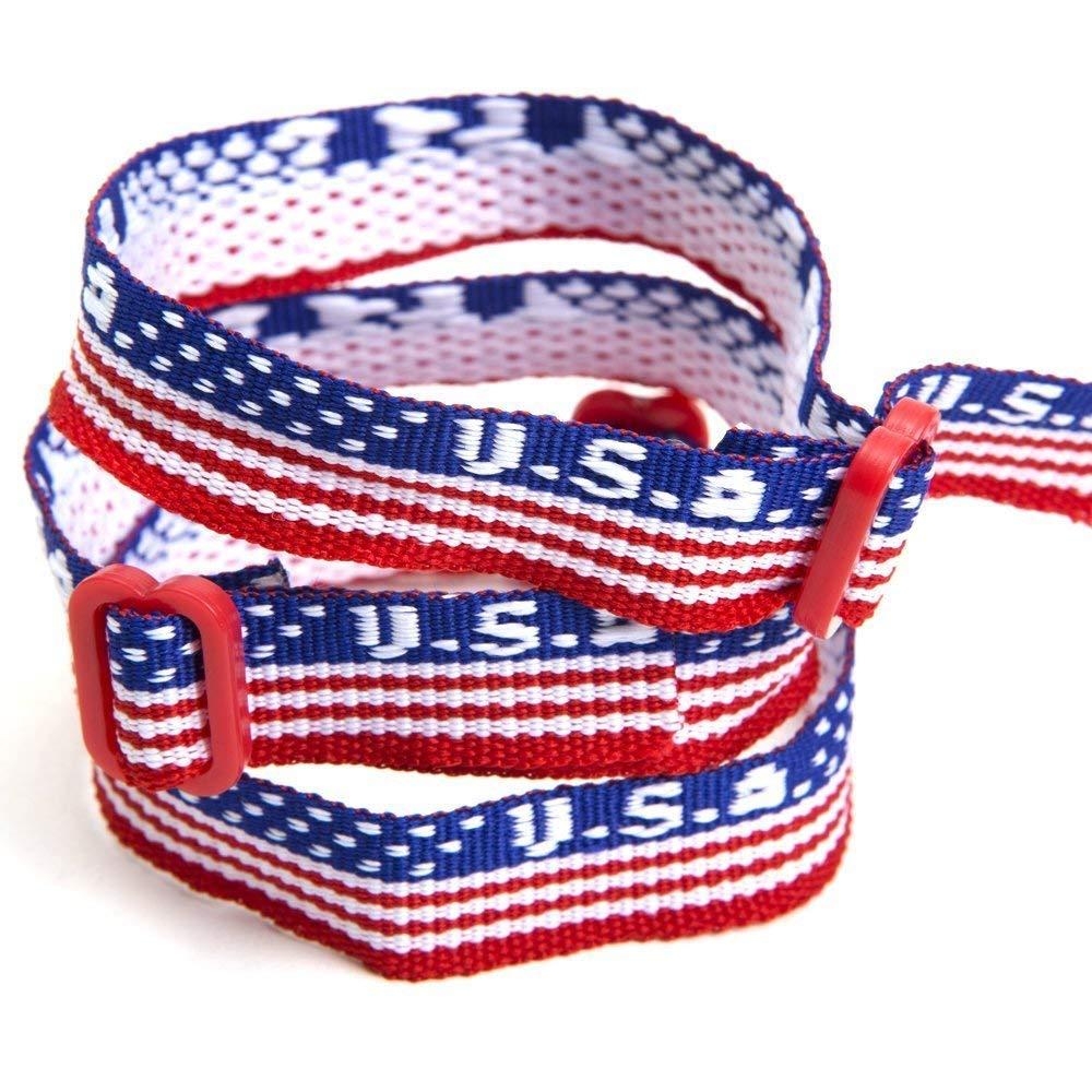 fe77514ab08f Get Quotations · Fun Express USA Woven Friendship Bracelets (2 Dozen)