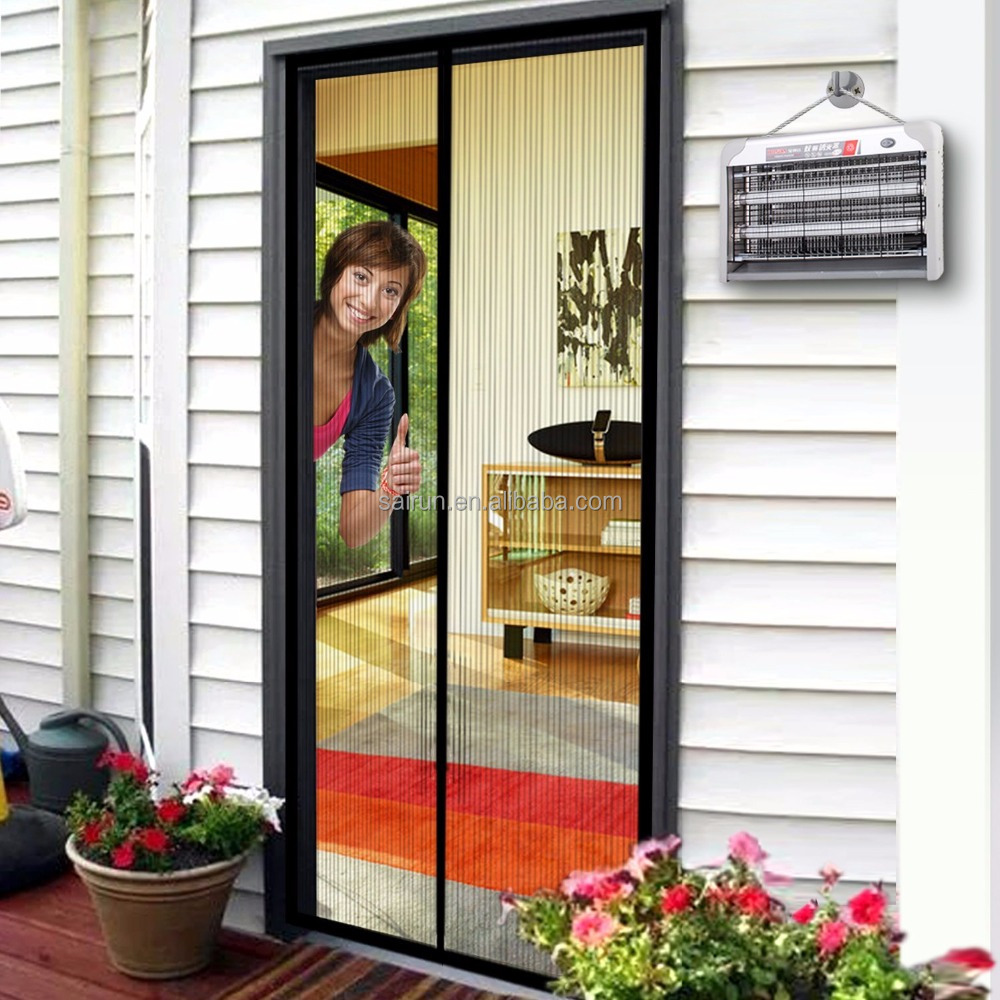 "Magnetic Fly Screen Door, Heavy Duty Mesh Screen Keep Bugs Out Lets Fresh Air In.34""x82"""