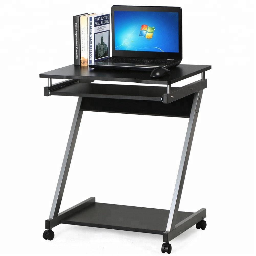 - Corner Computer Desk Small Spaces On Castors Pc Table Bedroom Home