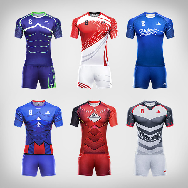 Wholesale sublimated blank rugby shorts league rugby shirt uniform custom super rugby jersey