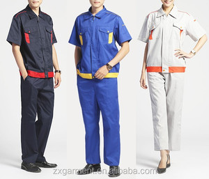 OEM wholesale unisex garage overall uniforms short sleeve jacket workwear