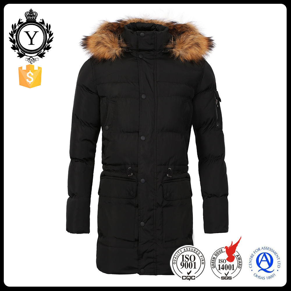 COUTUDI New Fashion Male Coat Winter Jacket Men Fur Hooded Warm Men Jackets Front Pockets High Quality Parkas For Male