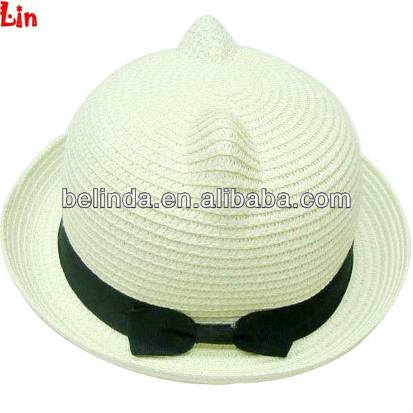 Milky White Summer Hats Cheap