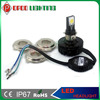 DC 6-36V 15w 1650 lumen H4 H6 H7 COB led chrome motorcycle headlight