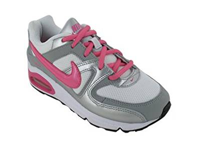 Nike Girls Air Max Command Sneakers, White Sport, Pink Metallic Silver Black