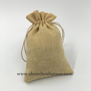 Wholesale Low Price Logo Printed Sweet Burlap Favor Bags