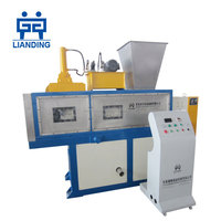PP PE HDPE LDPE film flakes squeezing dewatering machine for waste plastic recycle washing line