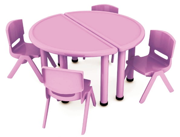 Non Toxic Half Round Plastic Baby Furniture Kids Canteen