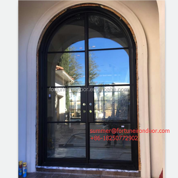 European Style Front Door Designs Made Out Of Steel Along With Tempered  Insulating Glass