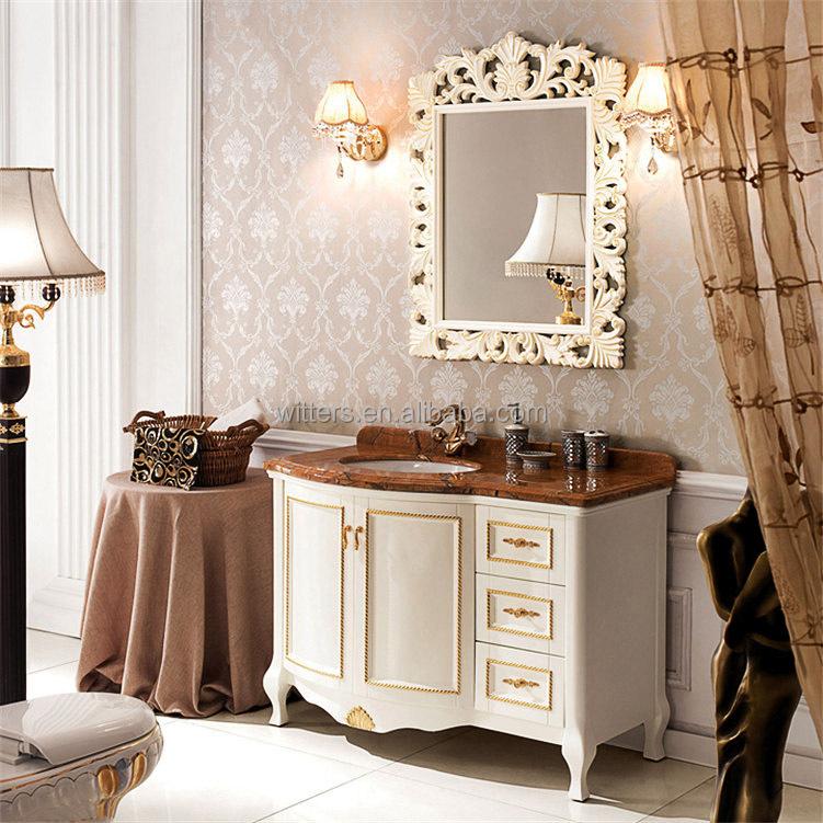 Blanc Antique Évier Simple Étroit Vanité De Salle De Bain Pas Cher ...
