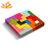 Wholesale hot sale diy shape puzzle toy intelligent 3d wooden Katamino toy for kids W14A188