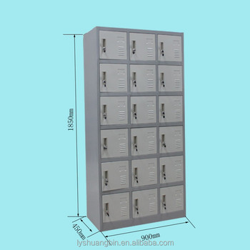 school steel 18 door locker with lable holder and air ventkid toy storage cabinet