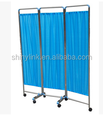 Medical clinic hospital partition curtain Folding medical Ward Bed patient Screen
