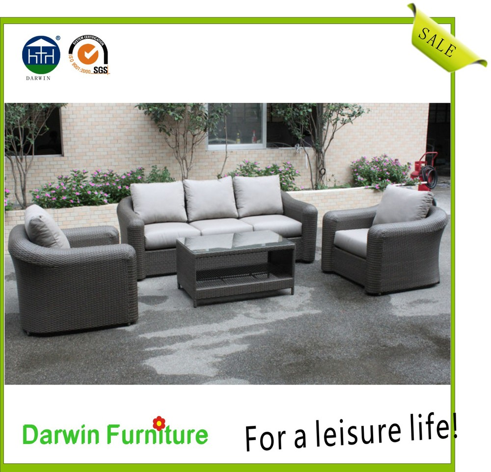 Popular outdoor wicker lounge rattan sofa buy rattan for Outdoor furniture darwin