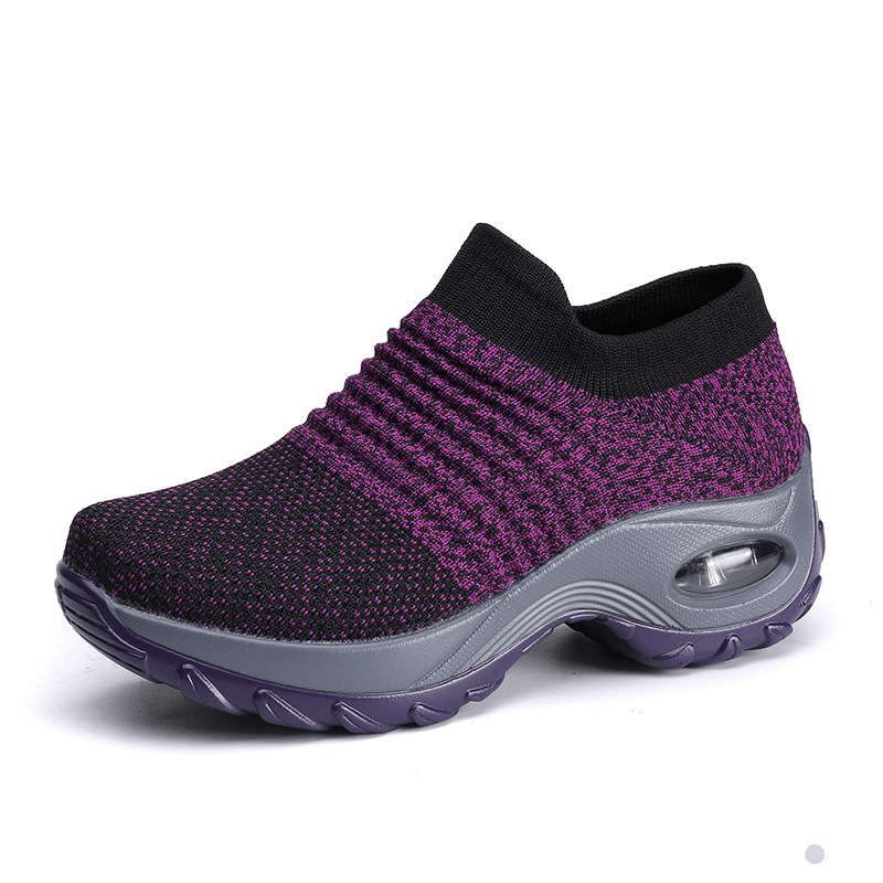 Big size 35-42 Woman breathable custom tennis basket homme sock shoes walking sports shoes wedge sneakers for ladies girl train