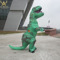 Green inflatable dinosaur costume cartoon mascot party decorations