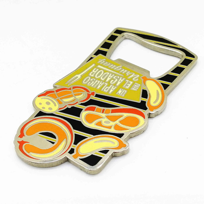 Free artwork design high quality low moq custom souvenir metal bottle opener