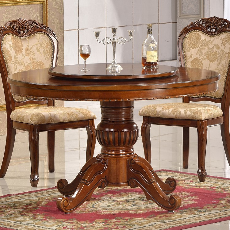 Simple And Elegant Banquet Table Round Rotating Dining