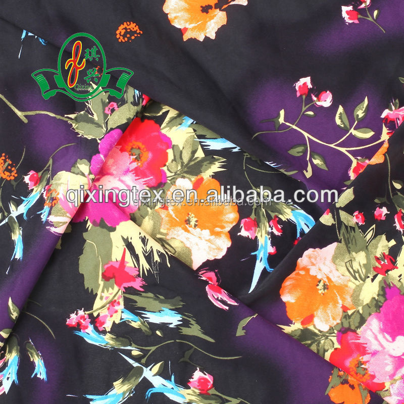 Good quality lycra spandex big flower printing fabric textile custom design