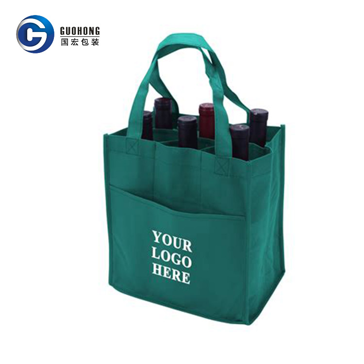 Durable pp woven wine bag, 6 bottles wine bag