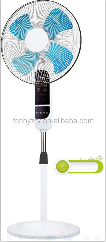 Foshan Factory 16 Inch Electric Standing Fan 4 aluminum blades With remote control