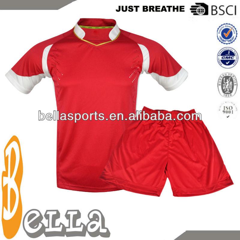 Red With White Insert Cheap Football Shirt Maker Soccer Jersey ...