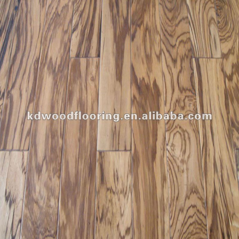 Natural Zebrano multilayer Wood Floor Guangzhou