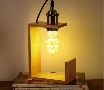 Exceptionnel Modern Side Table Lamps Table Lamp Wood Table Light Edison Bulb Vintage  Style For Bedroom   Buy Modern Side Table Lamps,Table Lamp Wood,Carved Wood  ...