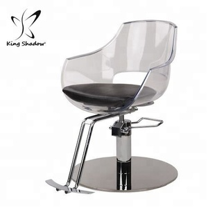modern antique styled acrylic hair salon furniture barber styling chair