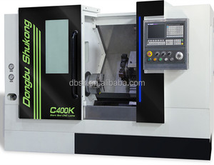 C400K CNC lathe SIEMENS 8 position turret High Precision Machine Tool China