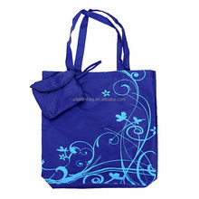 cheap 600 denier polyester tote bag folding pouch emoji euro shopping bag handle reusable waterproof grocery shopping bag