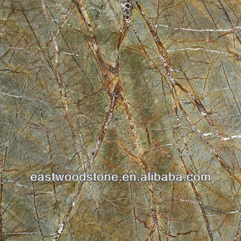Foresta Pluviale Mattonelle Di Marmo Verde Lastra Ripiano